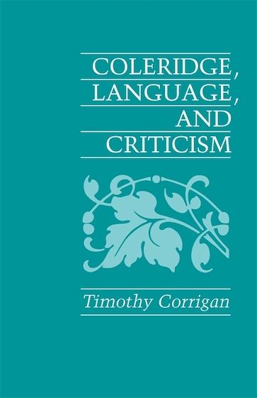 Coleridge, Language and Criticism